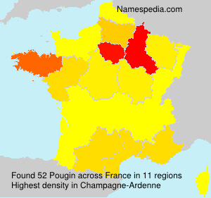 Surname Pougin in France