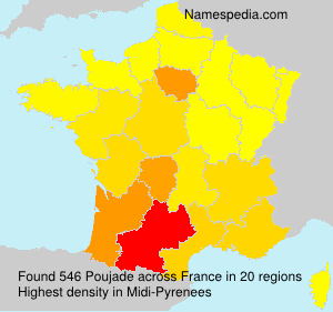 Surname Poujade in France