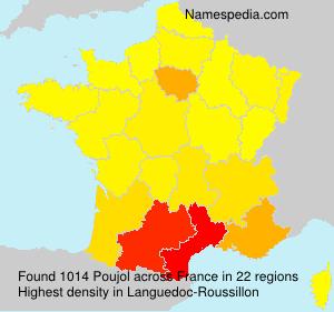 Surname Poujol in France