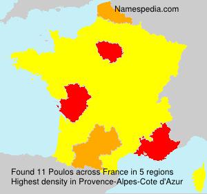 Familiennamen Poulos - France