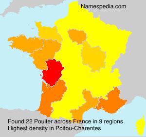 Familiennamen Poulter - France