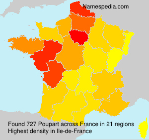 Surname Poupart in France