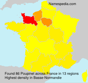 Surname Poupinel in France