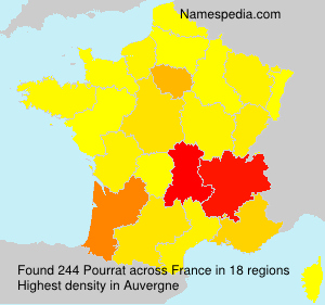 Surname Pourrat in France
