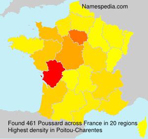 Familiennamen Poussard - France
