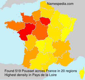 Surname Pousset in France