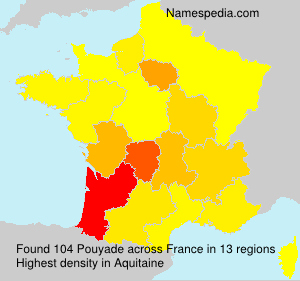 Surname Pouyade in France