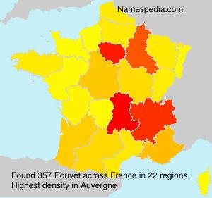 Familiennamen Pouyet - France