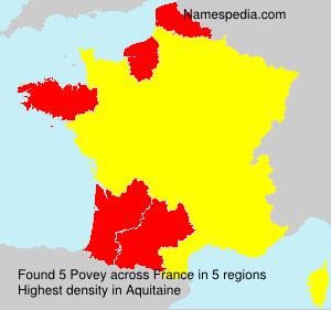 Surname Povey in France