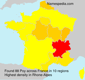 Surname Poy in France