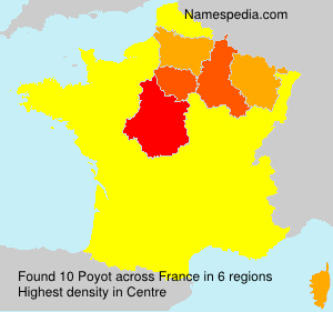 Surname Poyot in France