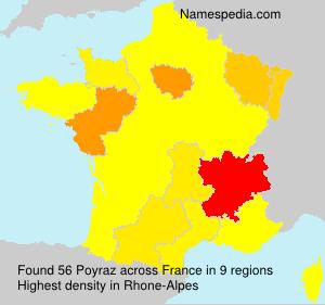 Surname Poyraz in France