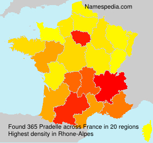 Familiennamen Pradelle - France