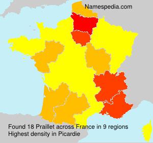 Surname Praillet in France
