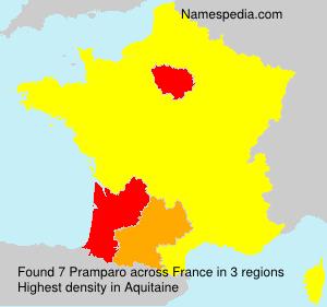 Surname Pramparo in France