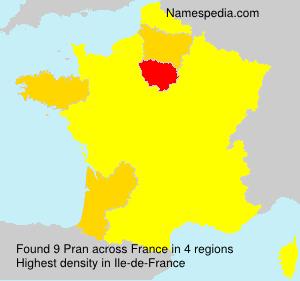 Surname Pran in France