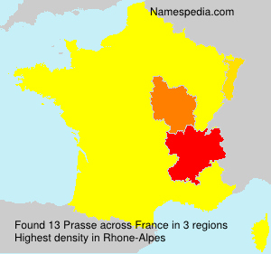 Surname Prasse in France
