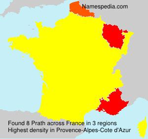 Surname Prath in France