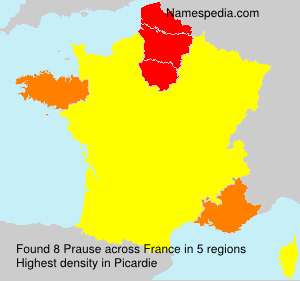 Surname Prause in France