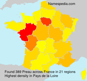 Surname Preau in France