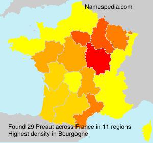 Surname Preaut in France