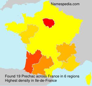 Surname Prechac in France