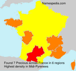Surname Precious in France