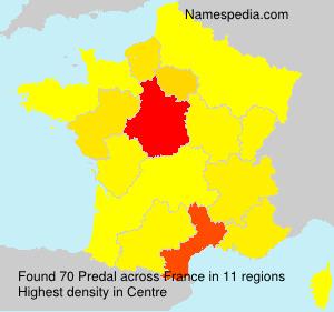 Surname Predal in France