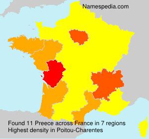 Surname Preece in France