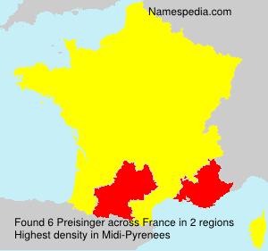 Surname Preisinger in France