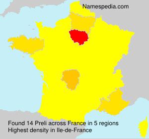 Surname Preli in France