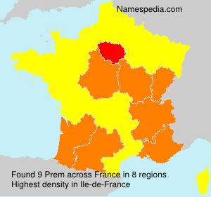 Surname Prem in France