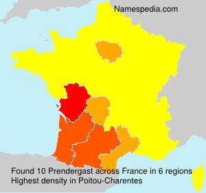Familiennamen Prendergast - France