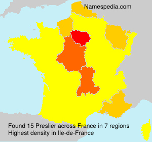 Surname Preslier in France
