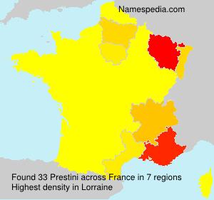 Surname Prestini in France