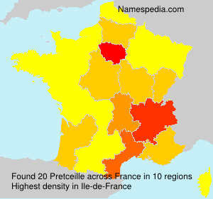 Surname Pretceille in France