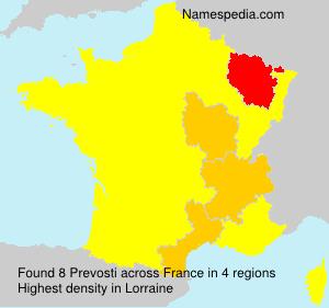 Familiennamen Prevosti - France