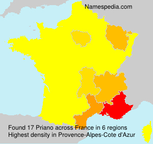 Surname Priano in France
