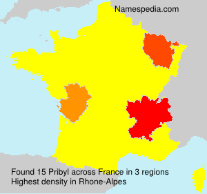 Surname Pribyl in France