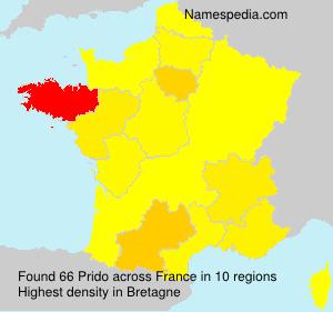 Surname Prido in France