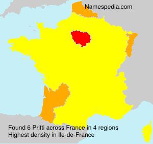 Surname Prifti in France