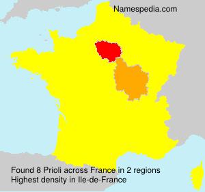 Familiennamen Prioli - France