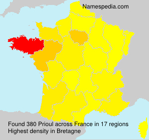 Surname Prioul in France