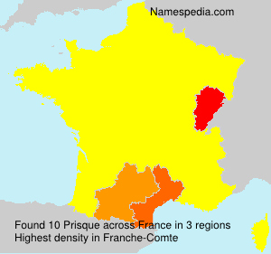 Surname Prisque in France