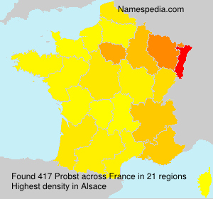 Surname Probst in France