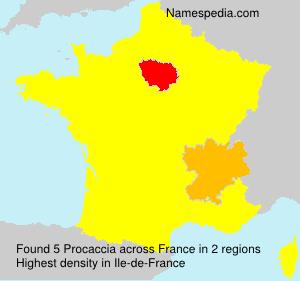 Familiennamen Procaccia - France