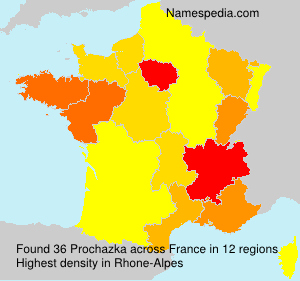 Surname Prochazka in France