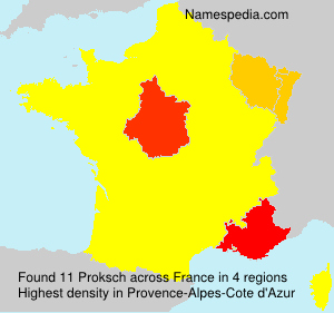 Surname Proksch in France