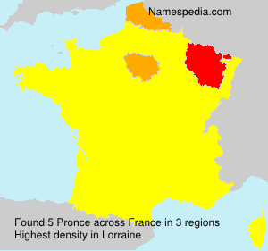 Surname Pronce in France