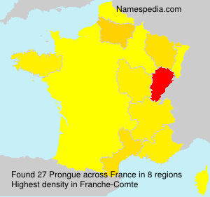 Surname Prongue in France